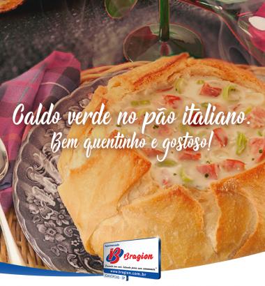 Caldo Verde no Pão Italiano