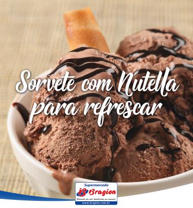Sorvete com Nutella para refrescar